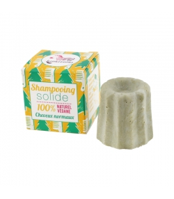 Shampooing solide cheveux normaux pin sylvestre - 55g - Lamazuna