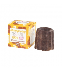 Festes Shampoo normales Haar Schokolade - 55g - Lamazuna