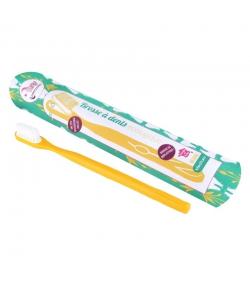 Zahnbürste mit auswechselbarem Bürstenkopf gelb Medium Nylon - 1 Stück - Lamazuna