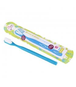 Zahnbürste mit auswechselbarem Bürstenkopf blau Medium Nylon - 1 Stück - Lamazuna