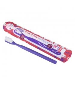 Zahnbürste mit auswechselbarem Bürstenkopf violett weich Nylon - 1 Stück - Lamazuna