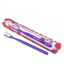 Zahnbürste mit auswechselbarem Bürstenkopf violett Medium Nylon - 1 Stück - Lamazuna