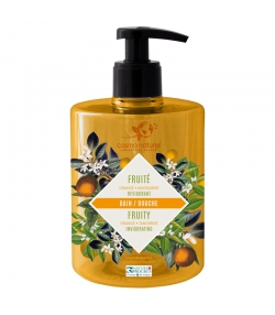 Bain & douche fruité BIO mandarine & orange - 500ml - Cosmo Naturel