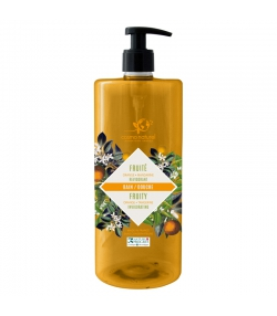 Bain & douche fruité BIO mandarine & orange - 1l - Cosmo Naturel