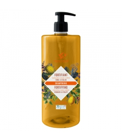 Shampooing fortifiant BIO quinquina, sauge & citron - 1l - Cosmo Naturel