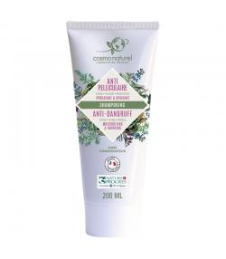 Shampooing anti-pelliculaire BIO cade, sauge & rhassoul - 200ml - Cosmo Naturel