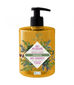 Shampooing anti-pelliculaire BIO cade, sauge & rhassoul - 500ml - Cosmo Naturel