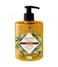 Shampooing cheveux gras BIO achillée, argile & ortie - 500ml - Cosmo Naturel