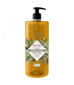 Shampooing & douche fraîcheur BIO olive & sauge - 1l - Cosmo Naturel