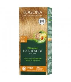 Poudre colorante végétale BIO 010 blond doré - 100g - Logona