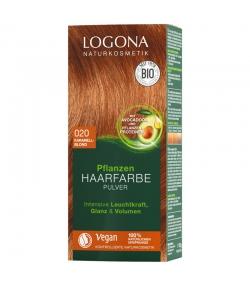 BIO-Pflanzen-Haarfarbe Pulver 020 Karamellblond - 100g - Logona
