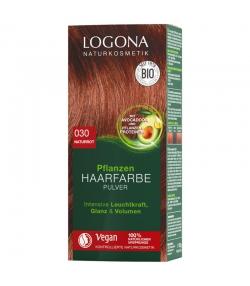 BIO-Pflanzen-Haarfarbe Pulver 030 Naturrot - 100g - Logona