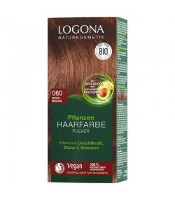 BIO-Pflanzen-Haarfarbe Pulver 060 Nussbraun - 100g - Logona