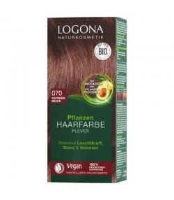 BIO-Pflanzen-Haarfarbe Pulver 070 Kastanienbraun - 100g - Logona