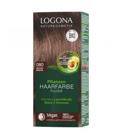 Poudre colorante végétale BIO 080 brun naturel - 100g - Logona