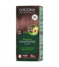 BIO-Pflanzen-Haarfarbe Pulver 090 Dunkelbraun - 100g - Logona
