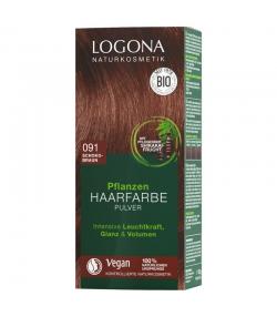 BIO-Pflanzen-Haarfarbe Pulver 091 Schokobraun - 100g - Logona