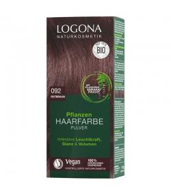 BIO-Pflanzen-Haarfarbe Pulver 092 Rotbraun - 100g - Logona
