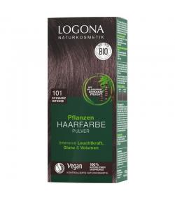 BIO-Pflanzen-Haarfarbe Pulver 101 Schwarz Intense - 100g - Logona