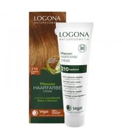 BIO-Pflanzen-Haarfarbe Creme 210 Kupferrot - 150ml - Logona