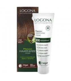 BIO-Pflanzen-Haarfarbe Creme 230 Maronenbraun - 150ml - Logona