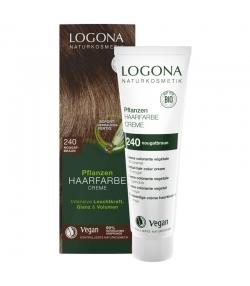 BIO-Pflanzen-Haarfarbe Creme 240 Nougatbraun - 150ml - Logona