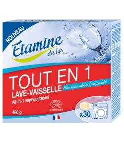 Tablettes lave-vaisselle tout en 1 écologiques sans parfum - 30 tablettes - Etamine du Lys