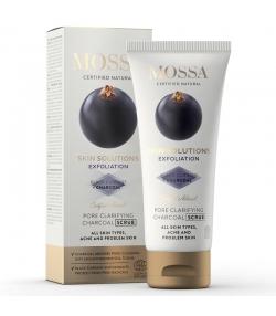 Porenreinigendes natürliches Kohle-Peeling schwarze Johannisbeere - 60ml - Mossa Skin Solution