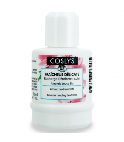 Recharge déodorant à bille 12h fraîcheur délicate BIO amande douce - 50ml - Coslys