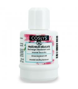 """Recharge déodorant à bille soin efficacité 12h """"fraîcheur délicate"""" BIO amande douce - 50ml - Coslys"""