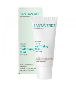 Mattierendes BIO-Fluid ohne Parfum Aloe Vera - 30ml - Santaverde Pure
