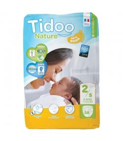 Couches & langes jetables écologiques Taille 2 S Mini 3-6 kg - 1 sac de 58 pièces - Tidoo Night&Day
