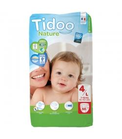 Couches & langes jetables écologiques Taille 4 L Maxi 7-18 kg - 1 sac de 50 pièces - Tidoo Night&Day