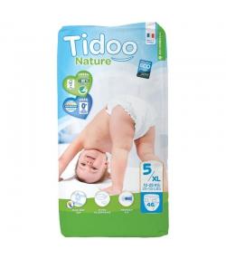 Couches & langes jetables écologiques Taille 5 XL Junior 12-25 kg - 1 sac de 46 pièces - Tidoo Night&Day
