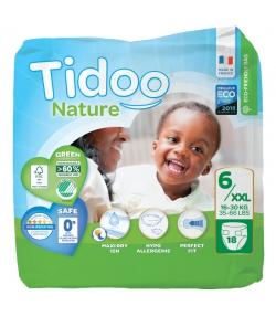 Couches & langes jetables écologiques Taille 6 XXL 16-30 kg - 1 sac de 18 pièces - Tidoo Night&Day