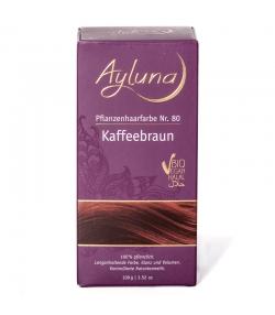 Poudre colorante végétale BIO N°80 couleur café - 100g - Ayluna