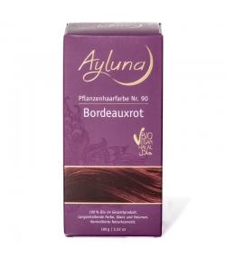 BIO-Pflanzenhaarfarbe Pulver N°90 Bordeauxrot - 100g - Ayluna
