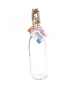 Pintflasche aus transparentem Glas 50cl mit mechanischem Porzellan-Verschluss - 1 Stück - ah table !