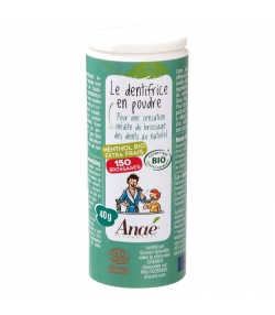 BIO-Zahnpastapulver Menthol extra-frisch ohne Fluor - 40g - Anaé