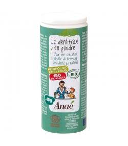 Dentifrice en poudre BIO menthol extra-frais sans fluor - 40g - Anaé