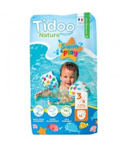 Ökoschwimmwindeln & Bioschwimmwindeln Grösse 3 S 4-9 kg - 1 Paket mit 12 Stück - Tidoo Swim&Play