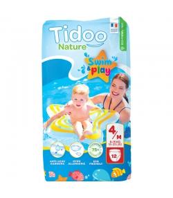 Ökoschwimmwindeln & Bioschwimmwindeln Grösse 4 M 8-15 kg - 1 Paket mit 12 Stück - Tidoo Swim&Play