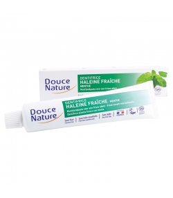 Dentifrice haleine fraîche BIO menthe sans fluor - 75ml - Douce Nature