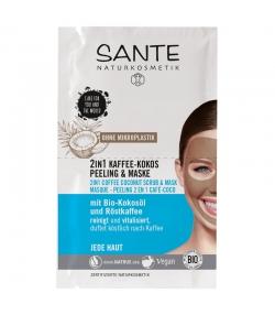 2in1 BIO-Peeling & Maske Kaffee-Kokos - 2x4ml - Sante