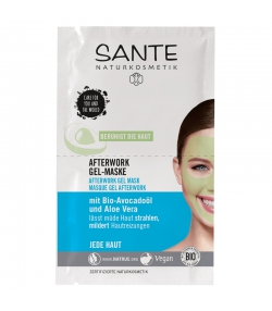 Afterwork BIO-Gel-Maske Avocado & Aloe Vera - 2x4ml - Sante