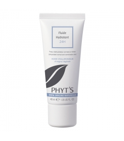 Fluide hydratant 24h BIO acide hyaluronique & aloe vera - 40ml - Phyt's