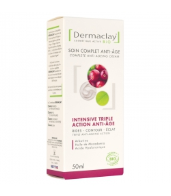 BIO-Intensive-Creme 3-fach Aktion Anti-Aging Arbutin & Macadamia - 50ml - Dermaclay
