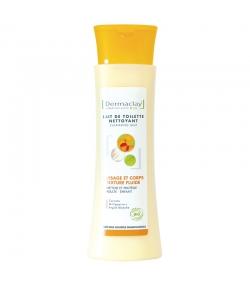 Lait de toilette nettoyant visage & corps BIO carotte & millepertuis - 200ml - Dermaclay