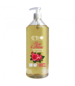 Shampooing & douche BIO rose d'antan - 1l - Ce'BIO