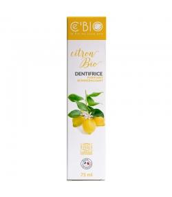 Dentifrice purifiant & reminéralisant BIO citron sans fluor - 75ml - Ce'BIO